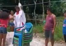 Trecho de vídeo que mostra o ritual. (Foto: Divulgação / YouTube)