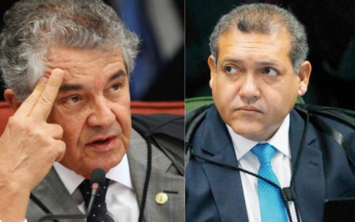 Ministros do STF Marco Aurélio e Nunes Marques (Foto: Montagem Folha Gospel)