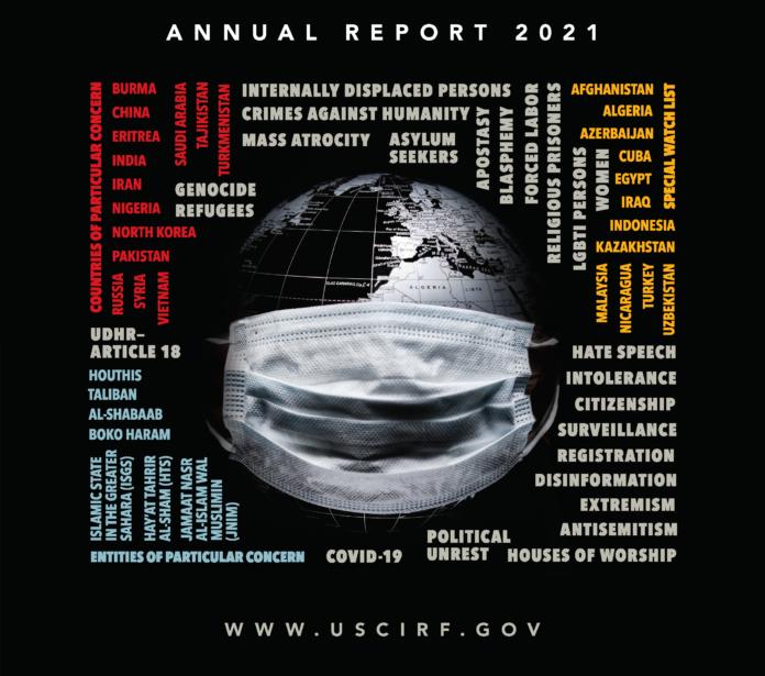 Capa do relatório anual sobre liberdade de religião