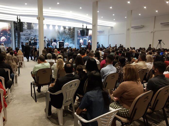 Culto com aglomeração na Igreja Assembleia de Deus – Brás, liderada pelo pastor Samuel Mariano, na Paraíba
