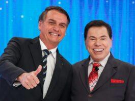 Presidente Jair Bolsonaro no programa de Silvio Santos (Foto: PR/Alan Santos)