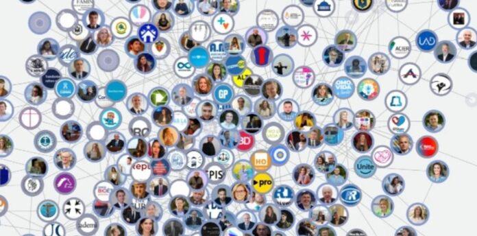 Captura de tela do mapa interativo do site ReaccionConservadora/Mídia social