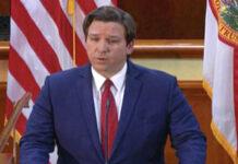 Ron DeSantis, governador da Flórida, EUA