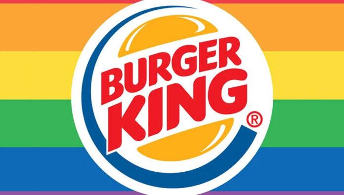 Logo da Burger King em apoio ao movimento LGBT