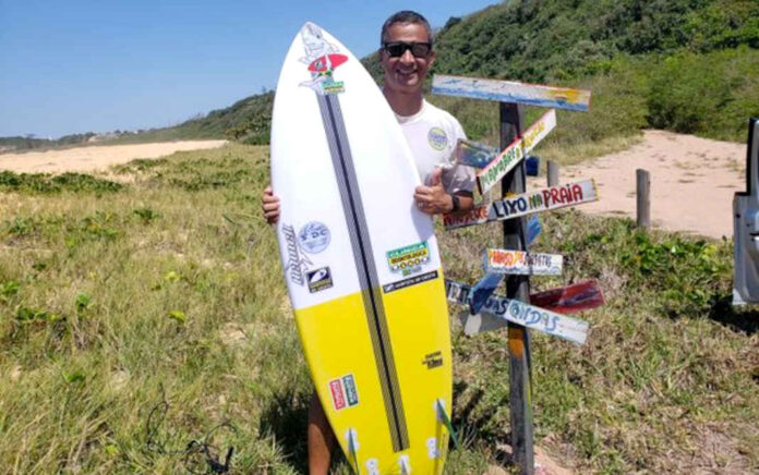Pastor Robson Baião fundou o Seminário Surfistas de Cristo e morreu enquanto surfava.