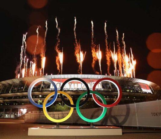 Abertura das Olimpíadas em Tóquio, Japão