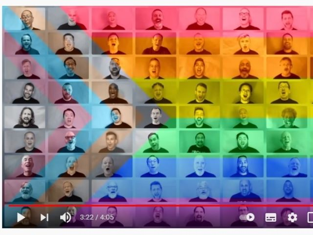 Coral Masculino Gay de São Francisco, nos EUA. (Foto: Reprodução)