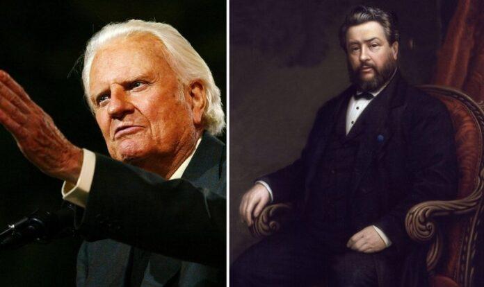 O evangelista Billy Graham e o teólogo Charles Spurgeon. (Foto: Reprodução)