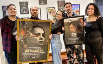 Daniela Araújo recebeu duas placas comemorativas pela ONErpm Brasil.