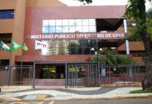 Fachada da Sede do Ministério Público de Goiás.